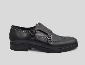 Ανδρικό Μαύρο Black Brogue Shoes PHILIPPE LANG