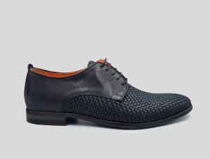 Ανδρικό Μπλε Woven Leather Brogue Oxfords Shoes LUCA ROSSI