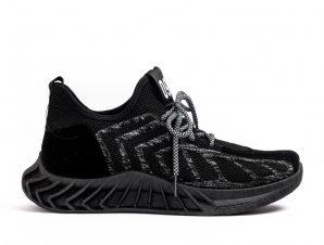 Ανδρικά μαύρα αθλητικά παπούτσια Fashion