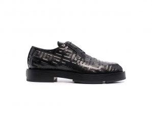 Ανδρικό Μαύρο 4G-Motif Lace-Up Derby Shoes GIVENCHY