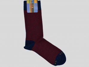 Ανδρικό Κόκκινο Houndstooth Red/Black Socks GALLO
