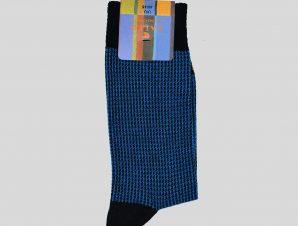 Ανδρικό Μπλε Houndstooth Blue/Black Socks GALLO