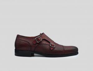 Ανδρικό Κόκκινο Bordeaux Double-Monk Strap Shoes PHILIPPE LANG