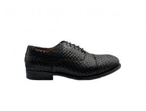 Ανδρικό Μαύρο Leather Oxford Shoes PHILIPPE LANG